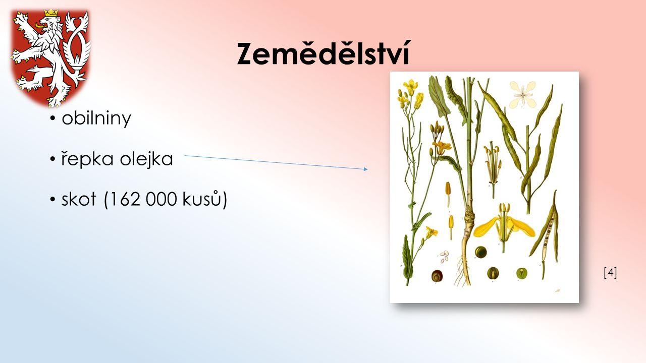 Zemědělství obilniny řepka olejka skot (162 000 kusů) [4]